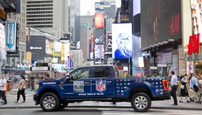 ford f series now official truck of the nfl. Black Bedroom Furniture Sets. Home Design Ideas