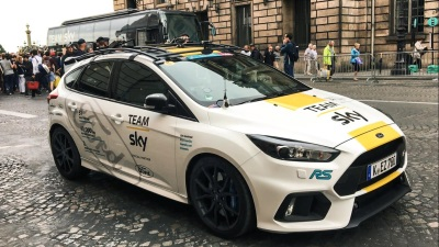 Special Focus Rs Sports Yellow As Ford Celebrates Tour De France Victory With Team Sky And Chris Froome