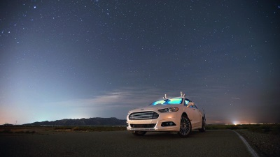 NO LIGHTS? NO PROBLEM! FORD FUSION AUTONOMOUS RESEARCH VEHICLES USE LIDAR SENSOR TECHNOLOGY TO SEE IN THE DARK
