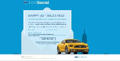 FORD MUSTANG FANS EVERYWHERE ARE INVITED TO SIGN A CARD FOR THEIR FAVORITE CAR'S BIRTHDAY AND HELP SET A WORLD RECORD