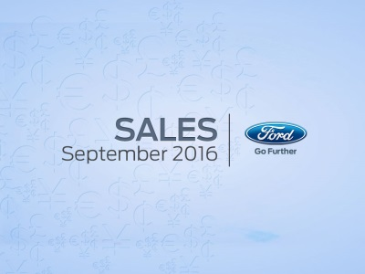 FORD TRANSIT SALES GROW IN SEPTEMBER; FORD'S OVERALL U.S. SALES DOWN 8 PERCENT VERSUS YEAR-AG