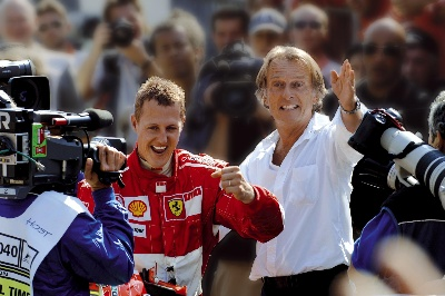 'Forza Michael, win this race too!'