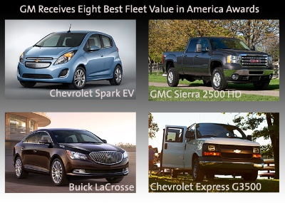 GM RECEIVES EIGHT BEST FLEET VALUE IN AMERICA AWARDS