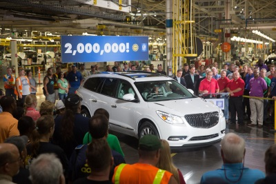 GM LANSING DELTA TOWNSHIP PLANT BUILDS 2 MILLIONTH VEHICLE