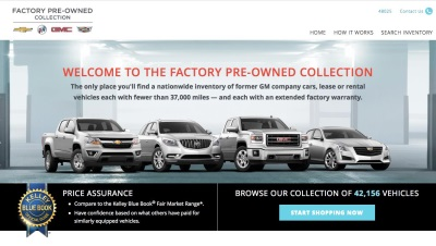 NEW GM USED CAR ONLINE SERVICE NOW OPEN FOR BUSINESS