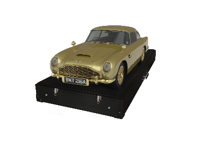 UNIQUE GOLD ASTON MARTIN DB5 IS PRECIOUS METAL FOR CHARITY
