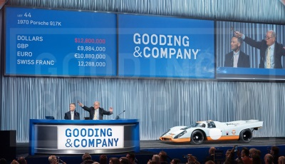 Gooding & Company Sells Most Valuable Porsche in World Auction History, Garners Over $91 Million in Two Days at The Pebble Beach Auctions
