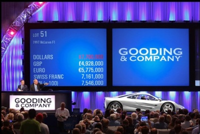 Gooding & Company's 10th Anniversary Pebble Beach Auctions Saturday Sale Realizes More Than $53.7 Million
