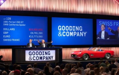 Gooding & Company's Two-Day Pebble Beach Auctions Realizes More Than $128 Million