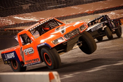 GORDON RACES TO SECOND SPEED ENERGY STADIUM SUPER TRUCKS WIN OF SEASON