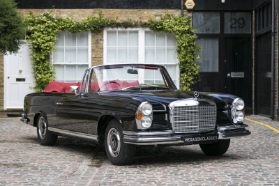 EXTREMELY RARE RIGHT-HAND-DRIVE 1970 MERCEDES-BENZ 280 CABRIOLET GOES ON SALE AT HEXAGON