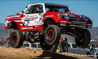 Honda Ridgeline BAJA Race Truck Takes Third At Parker 425