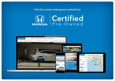 Honda Debuts New Website For Certified Pre-Owned Vehicles