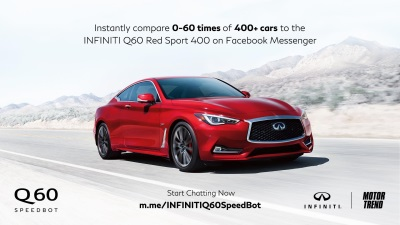 Infiniti And Motor Trend Launch Q60 Speedbot
