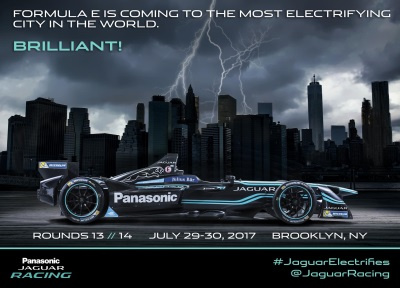 JAGUAR WELCOMES FIA FORMULA E CHAMPIONSHIP TO NEW YORK CITY