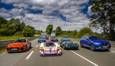 JAGUAR'S PAST AND PRESENT UNLEASHED AT LE MANS CLASSIC AS ANDY WALLACE STANDS ON THE PODIUM AGAIN!