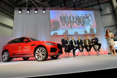 Jaguar Land Rover Solihull Workforce Celebrate Their F-Pace As The Best Car In The World