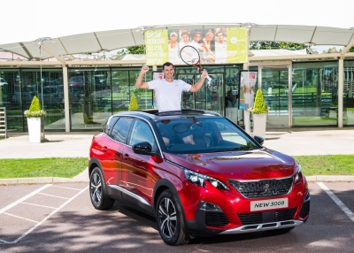 Doubles Hero Jamie Murray Welcomes New Partner – The All-New Peugeot 3008 SUV