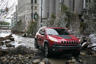 JEEP® BRAND TURNS CITY STREET INTO FOREST WITH WILD MOUNTAIN RIVER