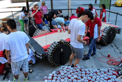 JEEP® AND THE FCA FOUNDATION CELEBRATE CANADA DAY WITH LIFE-SIZE 'CANSTRUCTION®' OF JEEP® WRANGLER FOR CHARITY