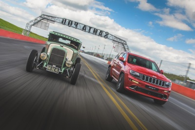 Hemi Vs Hemi: Jeep Grand Cherokee SRT Beats Hemi-Powered Hot Rod At Famous Santa Pod