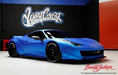 Craig Jackson's Barrett-Jackson To Auction Justin Bieber's 2011 Ferrari Built By West Coast Customs