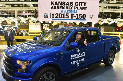 KANSAS CITY ASSEMBLY PLANT COMES ON LINE AS SECOND U.S. FACTORY BUILDING ALL-NEW FORD F-150