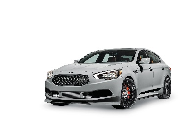 KIA MOTORS AMERICA SEMA 2014 ''A DAY AT THE RACES'' -- HIGH-PERFORMANCE K900