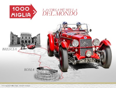 Mille Miglia, participants go across the Emilian region that was hit by the earthquake