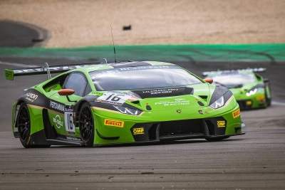 THE LAMBORGHINI HURACÁN GT3 WINS THE LAST ROUND OF THE BLANCPAIN GT SERIES ENDURANCE CUP .