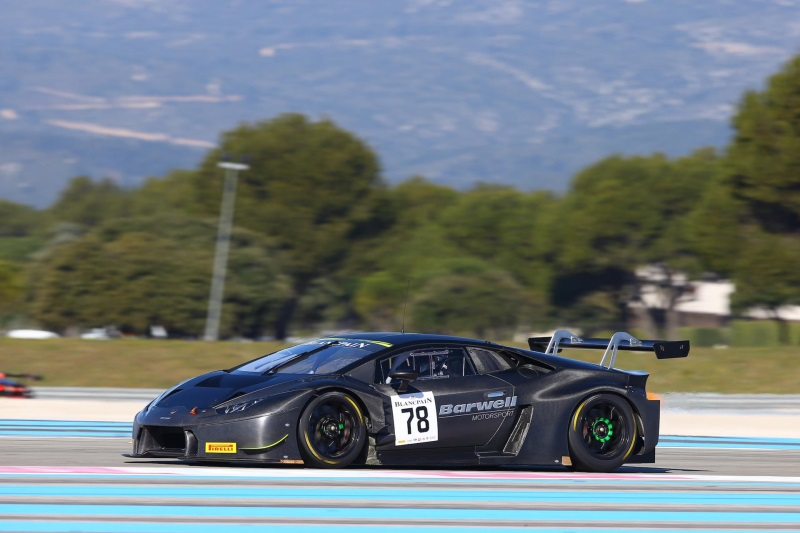 the lamborghini hurac n gt3 in top positions during 2016 blancpain gt official test days at paul. Black Bedroom Furniture Sets. Home Design Ideas