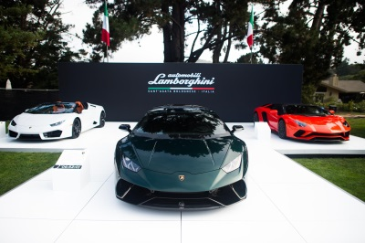 Lamborghini Presents First Worldwide Showcase Of Commemorative Vehicles During Monterey Car Week 2017