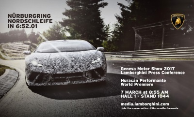 The New Huracán Performante Takes The Lap Record At Nürburgring Nordschleife