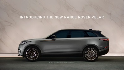Land Rover Launches New Marketing Campaign To Celebrate The Arrival Of The All-New Range Rover Velar In North America