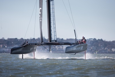 LAND ROVER TECHNOLOGIES TAKE TO THE HIGH SEAS IN BID TO DEVELOP THE FASTEST AMERICA'S CUP CLASS BOAT WITH LAND ROVER BAR