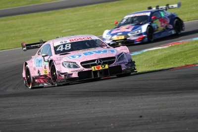 One-two victory at the Lausitzring: 'Pink Panther' Lucas Auer wins from Robert Wickens