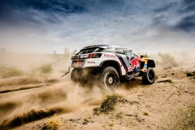 Loeb Leads Another Team Peugeot Total Double As Silk Way Rally Reaches Halfway Point