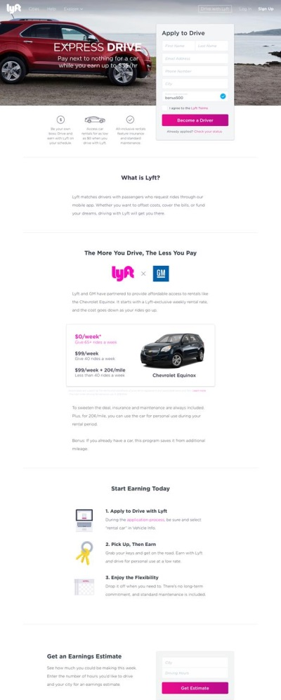 lyft and gm launch express drive program. Black Bedroom Furniture Sets. Home Design Ideas