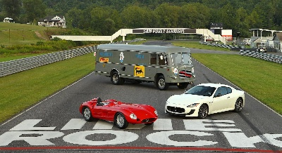 Historic Maserati Race Cars And Team Transporter Visit Lime Rock Park Historic Festival
