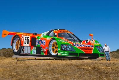 Giant Mazda 787B Mural Adds Color To Mazda Raceway Laguna Seca Hillside