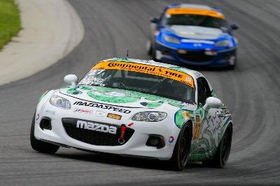 MAZDA RACER LIAM DWYER READY TO RACE AGAIN