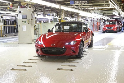 MAZDA STARTS PRODUCTION OF ALL-NEW MX-5