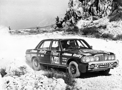 40 years ago: One-two for Mercedes-Benz 280 E in the 'London–Sydney': Rally tour half-way round the world with the W 123