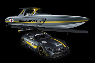 MERCEDES-AMG GT3 INSPIRES MOST POWERFUL 'OPEN PERFORMANCE' BOAT EVER PRODUCED BY THE CIGARETTE RACING TEAM