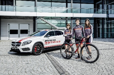 Mercedes-AMG sponsors the AMG Rotwild mountainbike racing team: Mercedes-AMG and Rotwild on the same road in high-performance sport