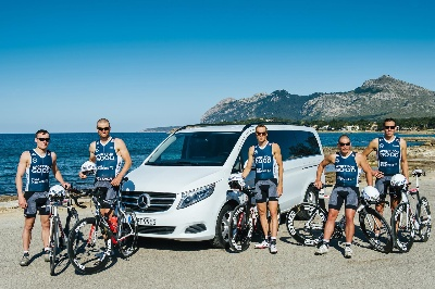 Mercedes-Benz Vans:The V-Class as a strong partner: Mercedes-Benz supports the triathletes of TEAM SPORT FOR GOOD