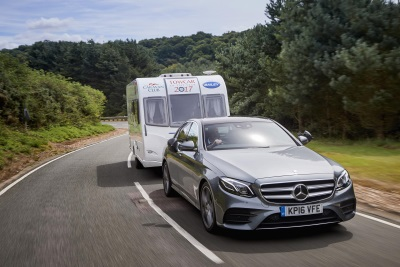 MERCEDES-BENZ E-CLASS COMES TOP OF ITS CLASS AT THE CARAVAN CLUB TOWCAR OF THE YEAR AWARDS
