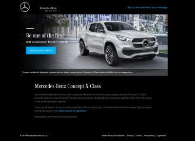 Mercedes-Benz Vans Launches X-Class Reservation Service In Response To Demand