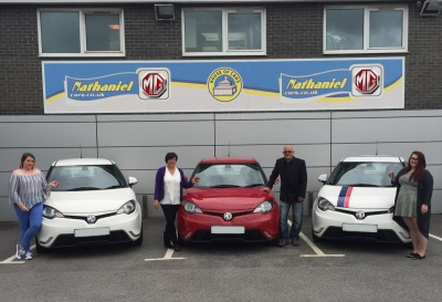 FAMILY DRIVE THEIR WAY TO MG RECORD