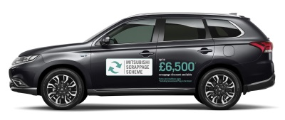 New Mitsubishi Scrappage Scheme Encourages Greener Motoring With £6,500* Off The Outlander Phev Otr Price